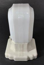 """画像4: 1930's Art Deco """"Porcelain&Milk Glass"""" Bathroom Lamp (4)"""