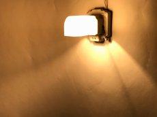 """画像11: 1930's Art Deco """"Porcelain&Milk Glass"""" Bathroom Lamp (11)"""