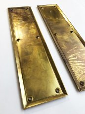 "画像3: 1930-40's ""HEAVY"" Brass  Door Push Plates (3)"