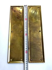 "画像2: 1930-40's ""HEAVY"" Brass  Door Push Plates (2)"
