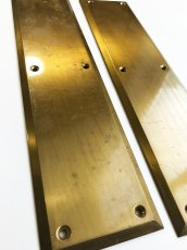 "画像4: 1930-40's ""HEAVY"" Brass  Door Push Plates (4)"