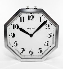 "画像5: ★BLACK & SILVER★  1930's French ""Art Déco"" Octagon Wall Clock 【超・Mint Condition】 (5)"