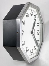 "画像12: ★BLACK & SILVER★  1930's French ""Art Déco"" Octagon Wall Clock 【超・Mint Condition】 (12)"