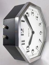 """画像14: ★BLACK & SILVER★  1930's French """"BRILLIE"""" Octagon Wall Clock 【超・Mint Condition】 (14)"""