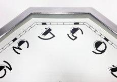 """画像10: ★BLACK & SILVER★  1930's French """"BRILLIE"""" Octagon Wall Clock 【超・Mint Condition】 (10)"""