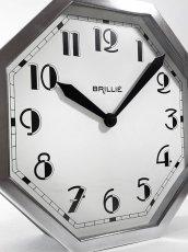 """画像3: ★BLACK & SILVER★  1930's French """"BRILLIE"""" Octagon Wall Clock 【超・Mint Condition】 (3)"""