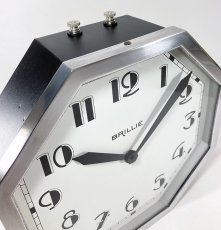 "画像2: ★BLACK & SILVER★  1930's French ""Art Déco"" Octagon Wall Clock 【超・Mint Condition】 (2)"