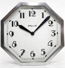 """画像6: ★BLACK & SILVER★  1930's French """"BRILLIE"""" Octagon Wall Clock 【超・Mint Condition】 (6)"""