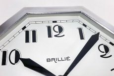 "画像7: ★BLACK & SILVER★  1930's French ""Art Déco"" Octagon Wall Clock 【超・Mint Condition】 (7)"