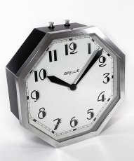 "画像1: ★BLACK & SILVER★  1930's French ""Art Déco"" Octagon Wall Clock 【超・Mint Condition】 (1)"