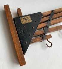 "画像6: 1920-30's ""Holds more Hanger"" Wood&STEEL Folding Hanger (6)"