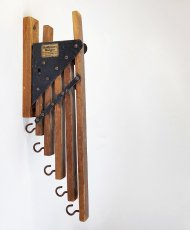 "画像2: 1920-30's ""Holds more Hanger"" Wood&STEEL Folding Hanger (2)"