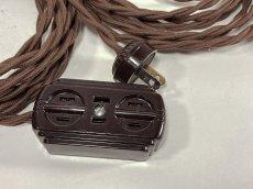 画像3: 1930-40's【4メーター】Extension Cord + Bakelite 3-Outlet -*残り8台*- (3)