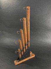 """画像5: 1920-30's """"Holds more Hanger"""" Wood&STEEL Folding Hanger (5)"""