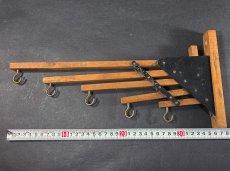 """画像8: 1920-30's """"Holds more Hanger"""" Wood&STEEL Folding Hanger (8)"""