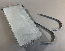 """画像9: 1940's """"Cast Aluminum"""" Wall Mount Mail Box  w/ Newspaper Holder (9)"""