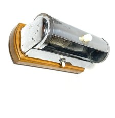 "画像2: 1930-40's German Art Deco ""Wood × Chrome"" Reading Light (2)"