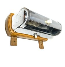 "画像3: 1930-40's German Art Deco ""Wood × Chrome"" Reading Light (3)"