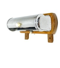 "画像8: 1930-40's German Art Deco ""Wood × Chrome"" Reading Light (8)"