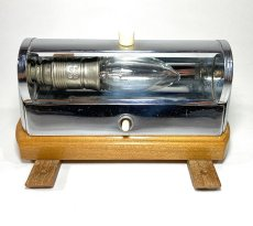 "画像6: 1930-40's German Art Deco ""Wood × Chrome"" Reading Light (6)"