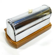 "画像9: 1930-40's German Art Deco ""Wood × Chrome"" Reading Light (9)"