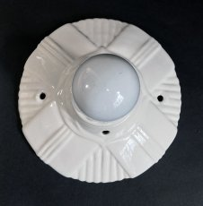 画像3: 1930-40's Art Deco Porcelain Bare Bulb Light (3)