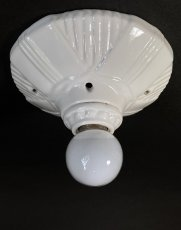画像2: 1930-40's Art Deco Porcelain Bare Bulb Light (2)