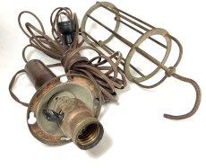 画像8: 1910-20's Wood Handle Trouble Light (8)