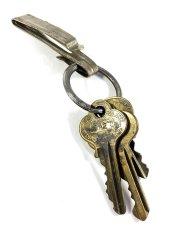 """画像4: Early-1920's Brass """"BELT CLIP"""" with Key Ring (4)"""
