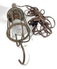 画像6: 1910-20's Wood Handle Trouble Light (6)