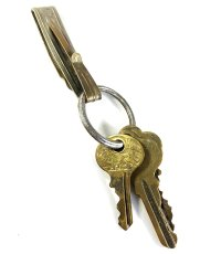 """画像1: Early-1920's Brass """"BELT CLIP"""" with Key Ring (1)"""