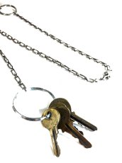 画像2: 1920-40's  BELT CLIP with Steel Chain & Keys (2)