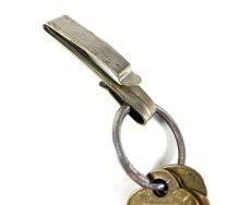 """画像5: Early-1920's Brass """"BELT CLIP"""" with Key Ring (5)"""