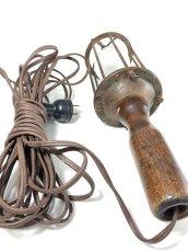 画像5: 1910-20's Wood Handle Trouble Light (5)