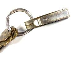 """画像6: Early-1920's Brass """"BELT CLIP"""" with Key Ring (6)"""