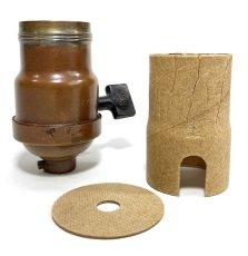 """画像1: """"FAT-BOY"""" Lamp Socket Paper Insulator for Turn-Knob Socket 【U.S.A.】 (1)"""