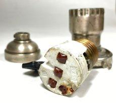 画像7: 1910-20's【BRYANT】Nickeled Brass Lamp Socket (7)