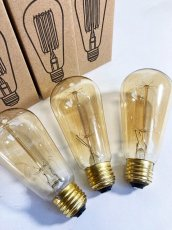 "画像2: 【NEW】 ""Edison"" Filament  Bulbs  120V 60W  -*ラスト1個*- (2)"