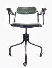 """画像2: ★ DoMore Chair Co.★  1910-20's """"Machine age"""" Swivel Desk Chair (2)"""