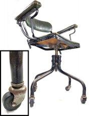 """画像19: ★ DoMore Chair Co.★  1910-20's """"Machine age"""" Swivel Desk Chair (19)"""