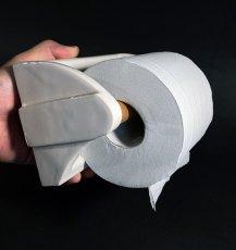 """画像3: 1920-30's Art-Deco """"Porcelain"""" Toilet Paper Holder (3)"""