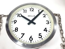 "画像17: 1950's【BRILLIE】 ""Double-Sided"" French Factory Clock (17)"
