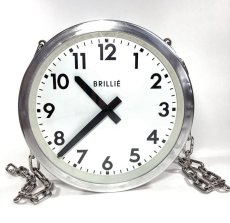 "画像12: 1950's【BRILLIE】 ""Double-Sided"" French Factory Clock (12)"