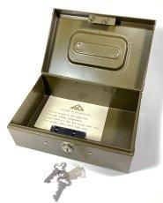 """画像3: 1950-60's """"ASCO NEW YORK"""" Steel Safety Box with Key (3)"""