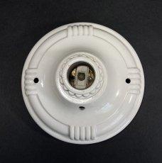 画像4: 1930-40's Art Deco Porcelain Bare Bulb Light (4)