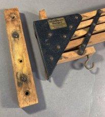 """画像6: 1920-30's """"Holds more Hanger"""" Wood&STEEL Folding Hanger (6)"""