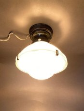 "画像3: 1940-50's ""HOLOPHANE"" Ceiling Light (3)"