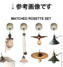 画像6: 1910-20's Porcelain Rosette Lamp parts (6)