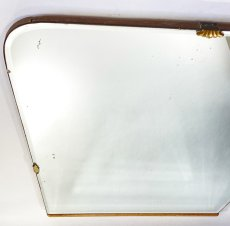 "画像11: 1930's【Art Deco】Wooden ""BEVELED-Mirror"" From Italy (11)"