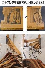 """画像7: 1920-30's """"Holds more Hanger"""" Wood&STEEL Folding Hanger (7)"""